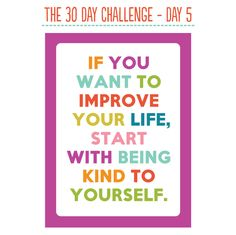 The Thirty Day Challenge: Day 5.