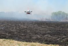Researchers use drones to control fires