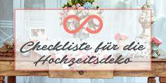 Checkliste für die Hochzeitsdeko