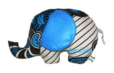 Colourful Baby Elephant by HouseofLoulee on Etsy, 16.00