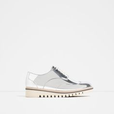 Image 2 of FLAT SHOES WITH BROGUE DETAIL from Zara