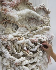 CROSSING THREADS, Lauren and Kassandra Hernandez, handwoven, woven art, tapestry, weaving