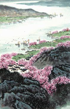 Song Wenzhi(宋文治) ,   江南新绿