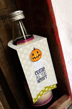 Come As You Aren't Bottle Tag by Jess Witty for Papertrey Ink (August 2012)