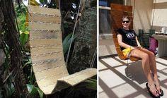 Deux exemples de fauteuil suspendu en palette. © Twotim221 et JosephT10 sur Instructables.com