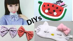 3 School DIYs: DIY no sew Japanese School Bow Tie + Cat Sleeping Eye Pat...