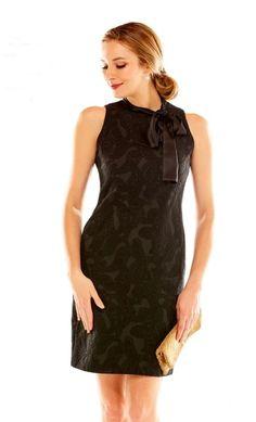 Classic Midi Dress Black Minimalist dress Beaded Cocktail Dress, Elegant Wool Black Dress With Sequin Flowers Trendy Mini Dress