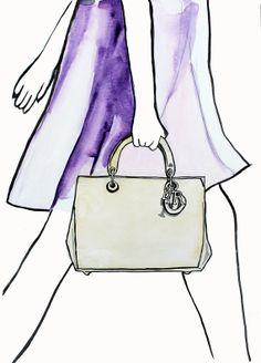 Le sac Dior, Fashion Illustration Giclee Print par Helen Simms pour Printemps Eté 2013