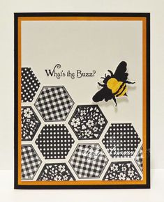 Buzzy Bee by hbrown - Cards and Paper Crafts at Splitcoaststampers Hexagon Cards, Chevron Cards, Bee Cards, Buzzy Bee, Bee Theme, Animal Cards, Butterfly Cards, Up Girl, Paper Cards