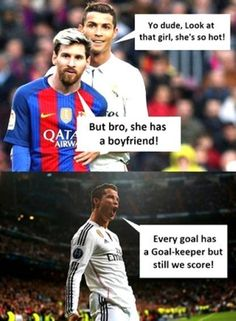 Lionel Messi And Cristiano Ronaldo Meme About Women. – Cumedy Hut – and as best Stress Killer. Funny School Jokes, Some Funny Jokes, Crazy Funny Memes, Really Funny Memes, Funny Quotes, Cr7 Quotes, Funniest Memes, Memes Ronaldo, Cristiano Ronaldo Quotes