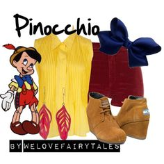 Pinocchio by welovefairytales on Polyvore