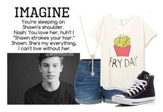 """""""Mini Imagine"""" by alove1812 ❤ liked on Polyvore featuring LE3NO, Converse, EF Collection and AubreysImagines"""