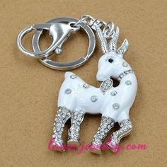 Famous Christmas dika deer model pendant key chain