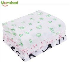64dece3c68d4 Mumsbest brand Muslin Baby Swaddling Cotton Newborn Infant Blankets  Swaddles Gauze Bath Towel Receiving Baby Swaddle