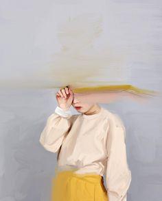 "NYSSA SHARP, ""Girl With the Yellow Skirt"", print, 21x29.7 cm., 2015."