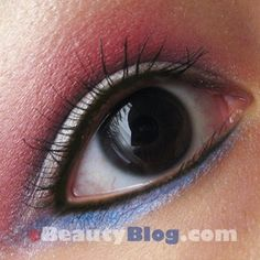 subtle but cute!   #4th of july makeup
