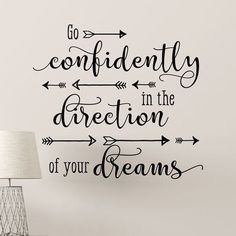 Belvedere Designs LLC Go Confidently Scripty Arrows Wall Quotes™ Decal Calligraphy Quotes Doodles, Brush Lettering Quotes, Doodle Quotes, Hand Lettering Quotes, Fake Calligraphy, Easy Caligraphy, Calligraphy Quotes Motivation, Modern Calligraphy Quotes, Bullet Journal Quotes