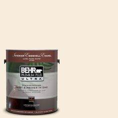 BEHR Premium Plus Ultra 1-Gal. #UL160-10 Polished Pearl Interior Eggshell Enamel Paint