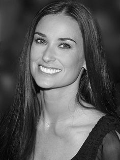 Demi Moore. Very pretty, not perfect skin like it always appears. Huge boobs!! Pretty cool and happy though, at least in 2002!