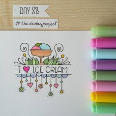 "126 mentions J'aime, 3 commentaires - Valeria Estonia ✌ RU (@blackberryjelly) sur Instagram : ""#100daysofdooodles #the100dayproject #doodleadayjuly #icecream #doodle #drawing #markers #copic…"""