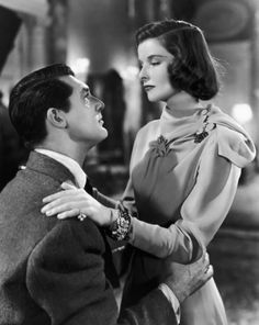 "Cary Grant and Katharine Hepburn in ""Holiday"""