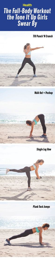 Get sculpted for summer with this full-body workout from the Tone It Up girls. | Health.com