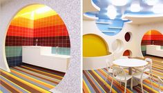 Bright Colors and Creativity Define a Play Space for Children