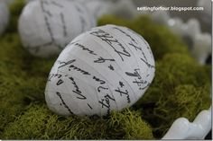 DIY French Script Easter Eggs