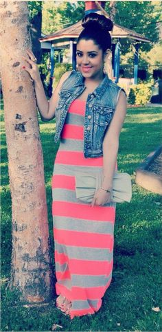 Jacket over Maxi dresses :) You guys remember my similiar look to this...such a relaxed look #fashiontalk