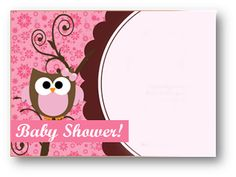 Cherry Handmade: BABY SHOWER NIÑA ( BUHO EN ROSA ) Tarjetas Baby Shower Niña, Invitaciones Baby Shower Niña, Imprimibles Baby Shower, Free Baby Shower Printables, Free Printable Cards, Birthday Photo Frame, Birthday Photos, Baby Shawer, Baby Owls