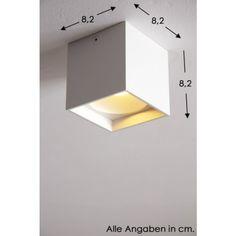 Helestra LED-Deckenleuchte Aluminium, Weiß 15/1560.07-DO1