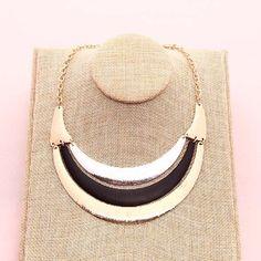 Grande collana di dichiarazione retrò minimalista geometrica collana gioielli in oro placcato gioielli stile alla moda