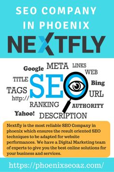 Promote your business and website with the top phoenix SEO Company, NEXTFLY. We adapted advanced SEO techniques to fast track your company to the top of the search results. #searchengineoptimizationadvanced,