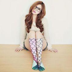 Mermaid Knee-High Socks