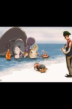 Animais marinhos prestam homenagem a menino sírio morto afogado