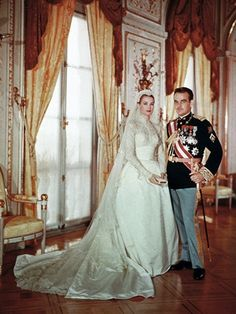 We give you permission to forget about your wedding budget (for a bit) and join us in drooling over Grace Kelly's Iconic $65,000 Helen Rose Gown .  The dress that may have inspired Kate Middleton's now infamous gown was worn by Grace Kelly when she married Prince Rainier in 1956 and is said to have been worth around $8,000. And of course, that was 56 years ago, when $8,000 was more like $65,000. Love Grace - Not the dress.