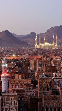 The Capital of Yemen view on The Old City from roof (by sultanalfajr on Flickr)