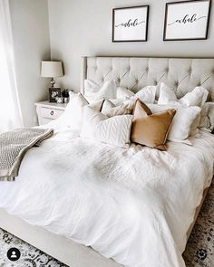 38 Look Luxurious With a White Master Bedroom Design Ideas - A master bedroom should be the perfect retreat from whatever is going on in the rest of the home and place where you can really kick -back and relax. Romantic Bedroom Decor, Home Decor Bedroom, Modern Bedroom, Cozy Bedroom, Contemporary Bedroom, Bedroom Classic, Bedroom Furniture, Bedroom Neutral, Bedroom Brown
