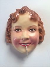 Vintage Shirley Temple String Holder Wall Mount