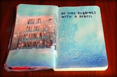 Do some rubbings with a pencil, wreck this journal ideas #edsheeran #frozen