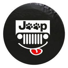Jeep Paw Grill Vinyl Spare Tire Cover