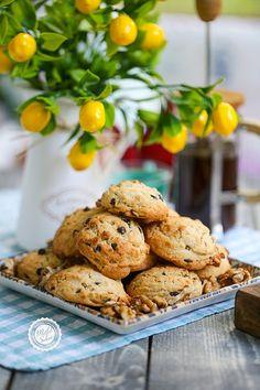 Walnut Cookies, Biscuits, Good Food, Food And Drink, Chocolate, Cake, Kitchen, Desserts, Organization