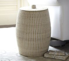 Woven Prayer Hamper | Pottery Barn Kids