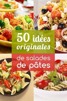 Pasta salads: more than 50 recipe ideas for you to tell - - Healthy Salads, Healthy Cooking, Healthy Recipes, Healthy Drinks, Pasta Recipes, Salad Recipes, Cooking Recipes, Batch Cooking, Food Hacks