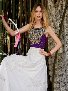 Free People Ethnic Romance Dress, $298.00; has to be one of the more beautiful unique dresses!