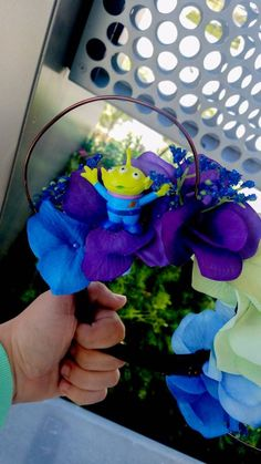 Items similar to Toy Story Alien Floral Wire Mickey Ears Diy Disney Ears, Disney Diy, Disneyland Trip, Disney Trips, Mickey Ears, Minnie Mouse, Toy Story Alien, Mouse Ears, Purple Flowers