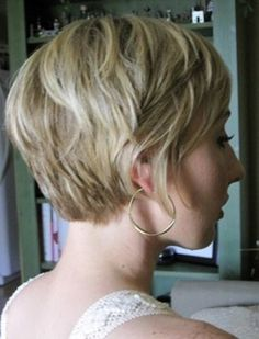 super short and layered.lovely grow out style