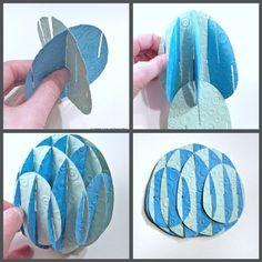 DIY paper slice form easter egg (with pattern)