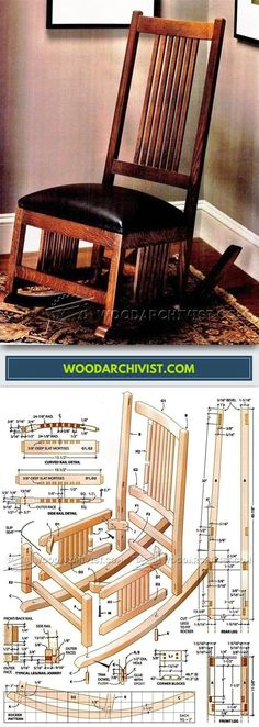 Classic Rocker Plans - Furniture Plans and Projects | WoodArchivist.com