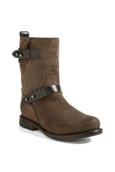rag & bone Waxed Calfskin Suede Moto Boot